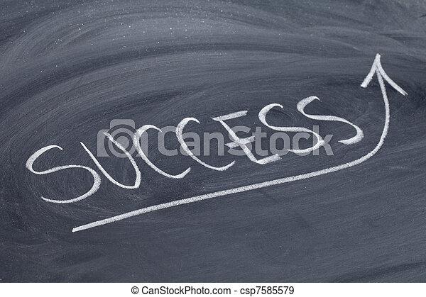 success word on blackboard - csp7585579