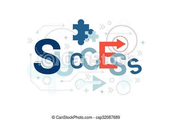 Success Word Typography - csp32087689