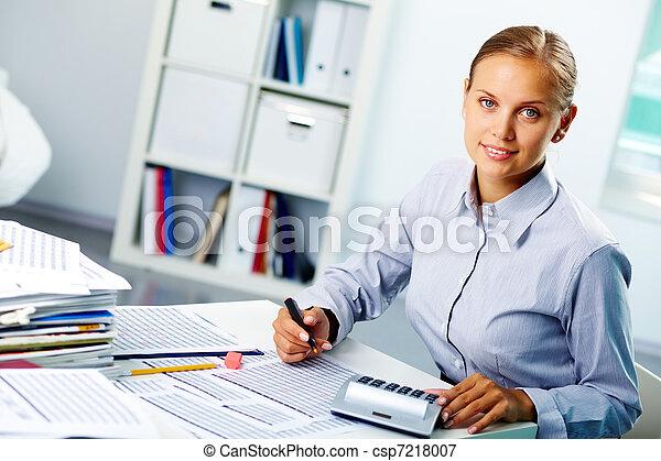 Successful accountant - csp7218007