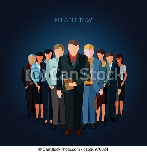 successful business team - csp36970024