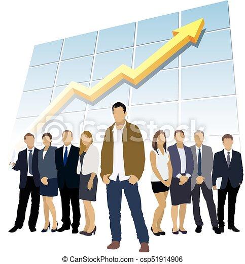 Successful business team - csp51914906