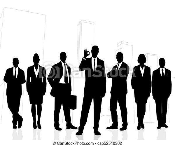 Successful business team - csp52548302