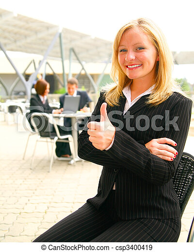 Successful Business Woman - csp3400419