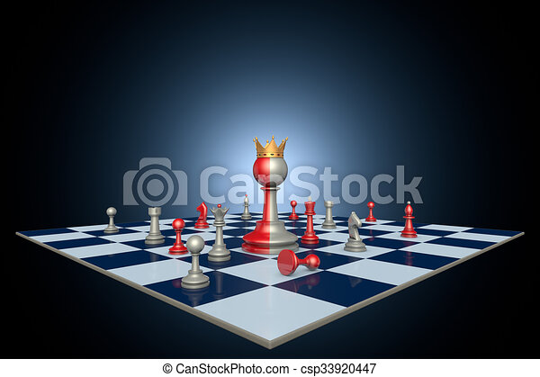 Successful political career (chess metaphor) - csp33920447