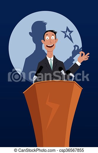 Successful public speaker - csp36567855