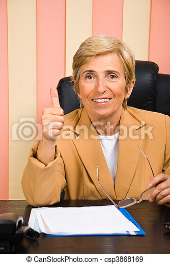 Successful senior business woman - csp3868169