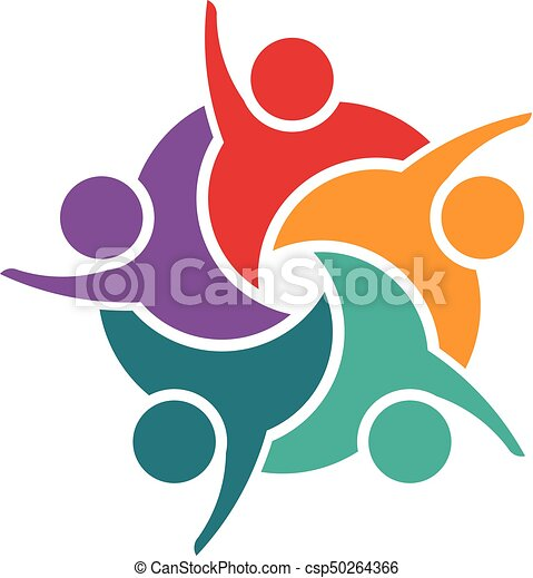 successful team at work group of young business people logo clip rh canstockphoto com