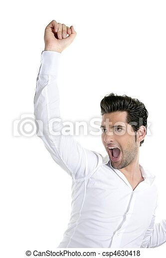 Successful young man gesture expression - csp4630418