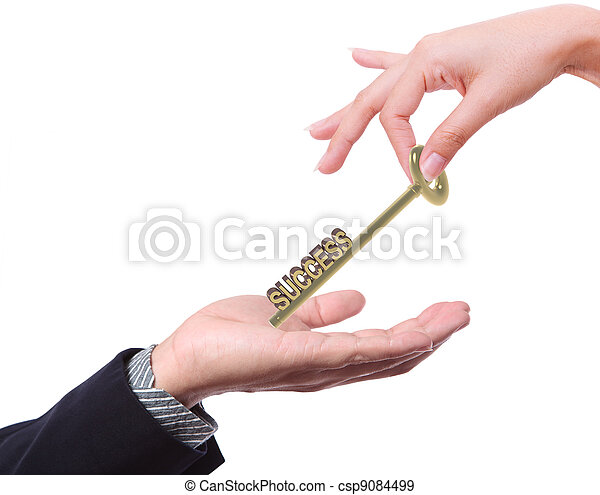 successo, affari, offerta, chiave, altri, uomo - csp9084499