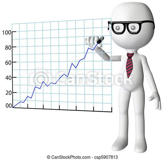successo, ditta, grafico, direttore, crescita, disegno - csp5907813