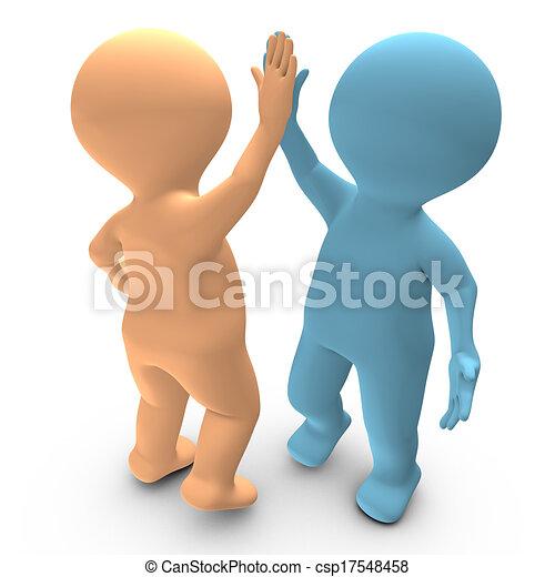 successo, due, alto, persone, cinque, fra, celebrare - csp17548458