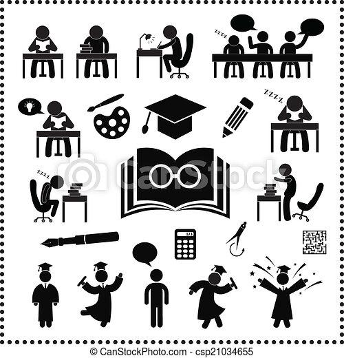 succesvolle , studeren, symbool - csp21034655