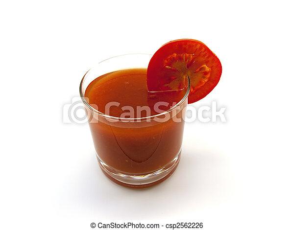 succo pomodoro, segmento, basso, vetro - csp2562226
