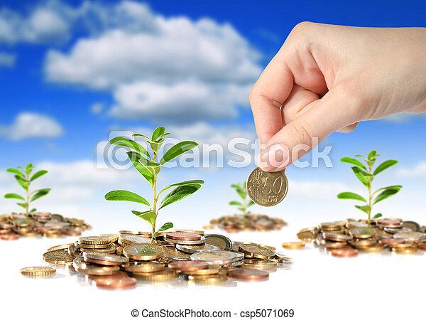 sucedido, investments., negócio - csp5071069