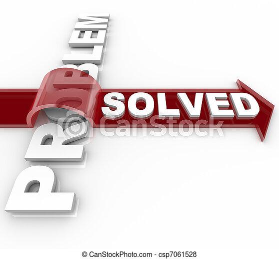 sucedido, -, solução, resolvido, problema, edição - csp7061528