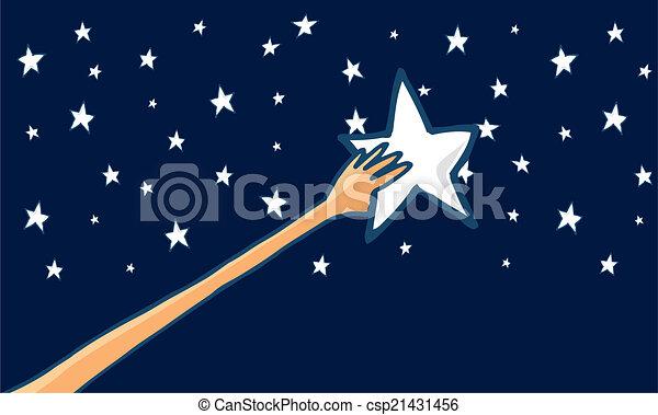 sucesso, -, alcance, estrelas, horizontais, ou - csp21431456