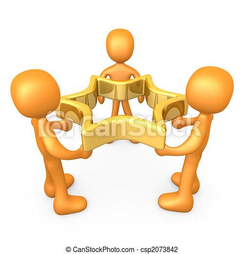 sucesso, equipe - csp2073842
