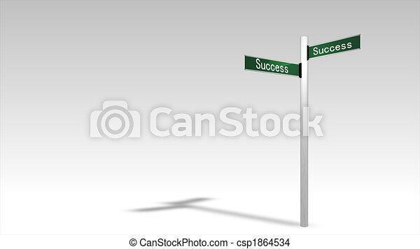 sucesso, signpost - csp1864534