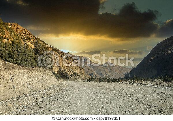 suciedad, remoto, desierto, camino - csp78197351