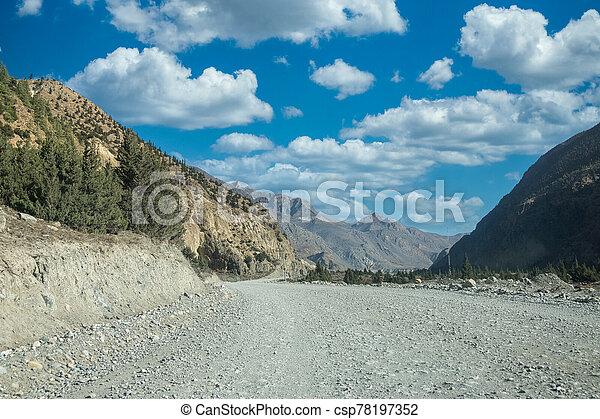 suciedad, remoto, desierto, camino - csp78197352