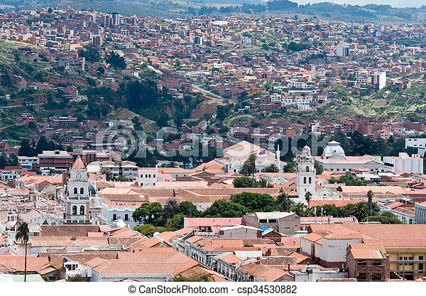 View At Sucre Capital Of Bolivia