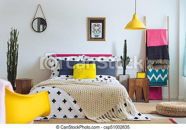 sucre, crâne, folklorique, chambre à coucher