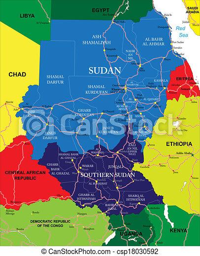 Sudan map - csp18030592