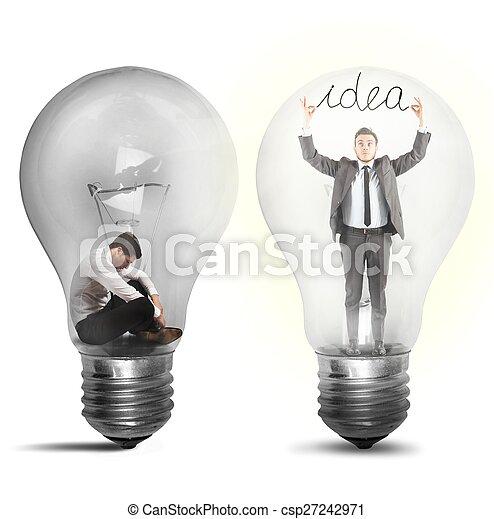 suddenly, homme affaires, idée - csp27242971