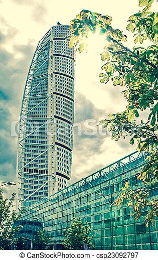 Rascacielos girando torso, sweden - csp23092797