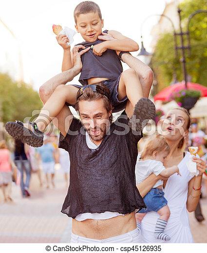 Suffering devoted parents kids - csp45126935