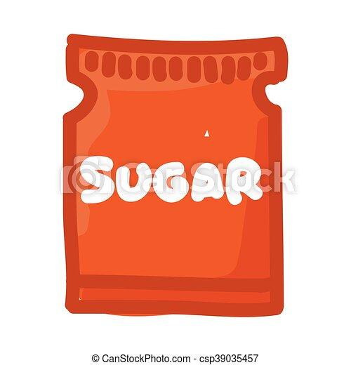 sugar bag isolated icon - csp39035457