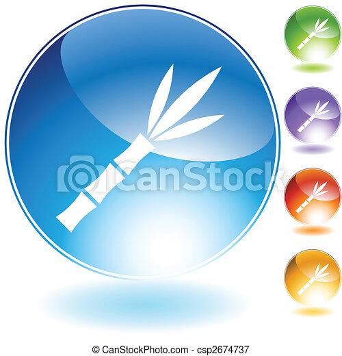 sugar cane crystal icon - csp2674737