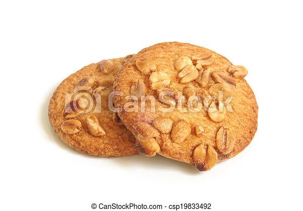 Sugar cookies with peanuts - csp19833492