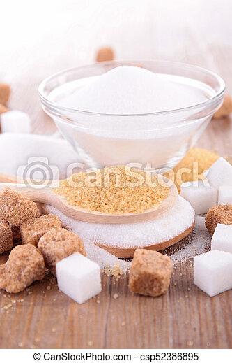 sugar cubes and cane - csp52386895