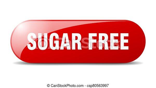 sugar free button. sugar free sign. key. push button. - csp80563997