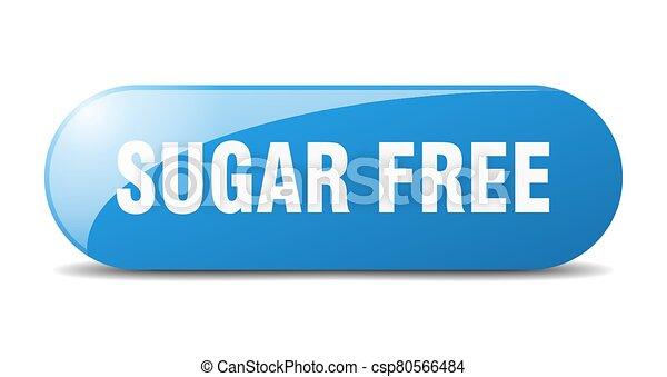 sugar free button. sugar free sign. key. push button. - csp80566484