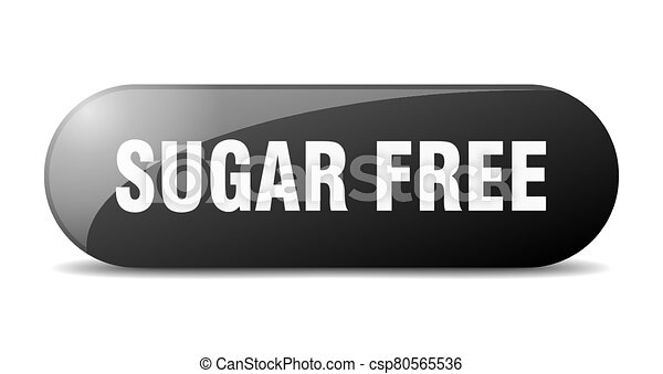 sugar free button. sugar free sign. key. push button. - csp80565536