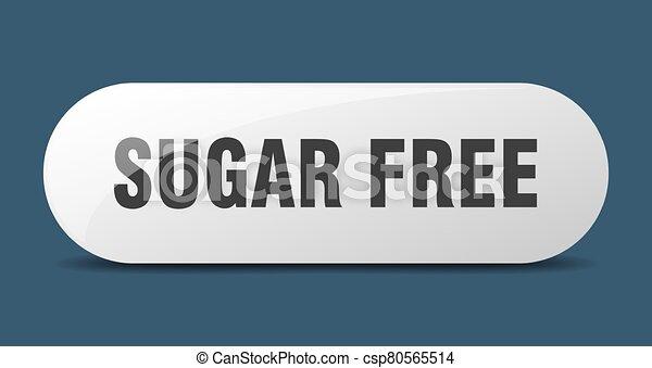 sugar free button. sugar free sign. key. push button. - csp80565514