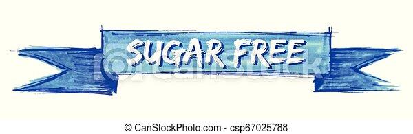 sugar free ribbon - csp67025788