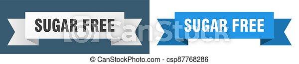 sugar free ribbon. sugar free isolated paper sign. banner - csp87768286