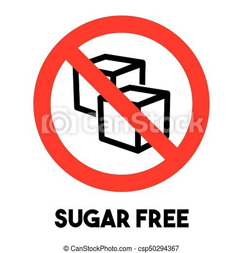 Sugar free sign - csp50294367