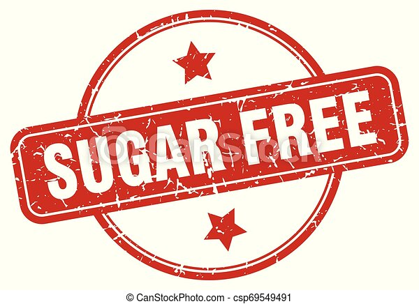 sugar free sign - csp69549491
