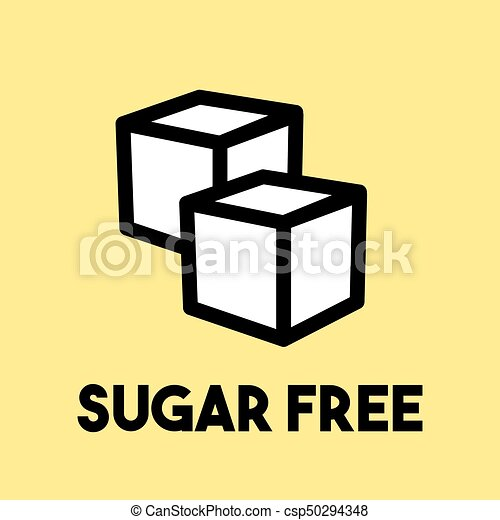 Sugar free sign - csp50294348