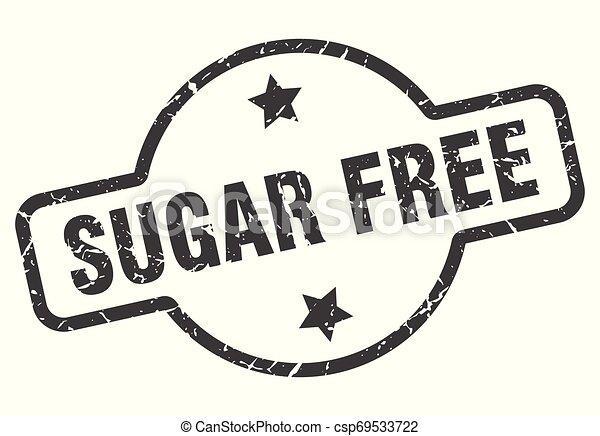 sugar free sign - csp69533722