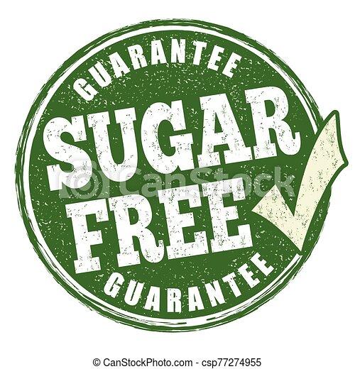 Sugar free sign or stamp - csp77274955
