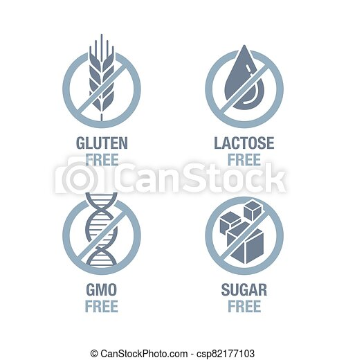 Sugar, Gluten, Lactose, GMO free set - csp82177103