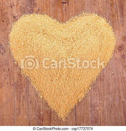 sugar heart shape - csp17737074