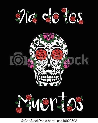 Sugar skull calavera mexican day of dead vector illustration dia sugar skull calavera mexican day of dead vector illustration dia de los muertos greeting card m4hsunfo