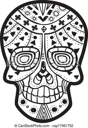 sugar skull - csp17461752