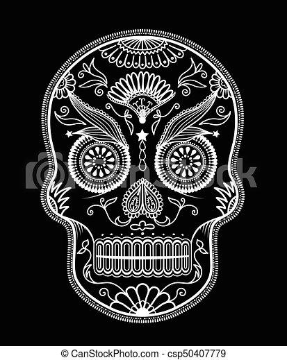 sugar skull day of the dead rh canstockphoto com day of the dead vector art free day of the dead vector art free